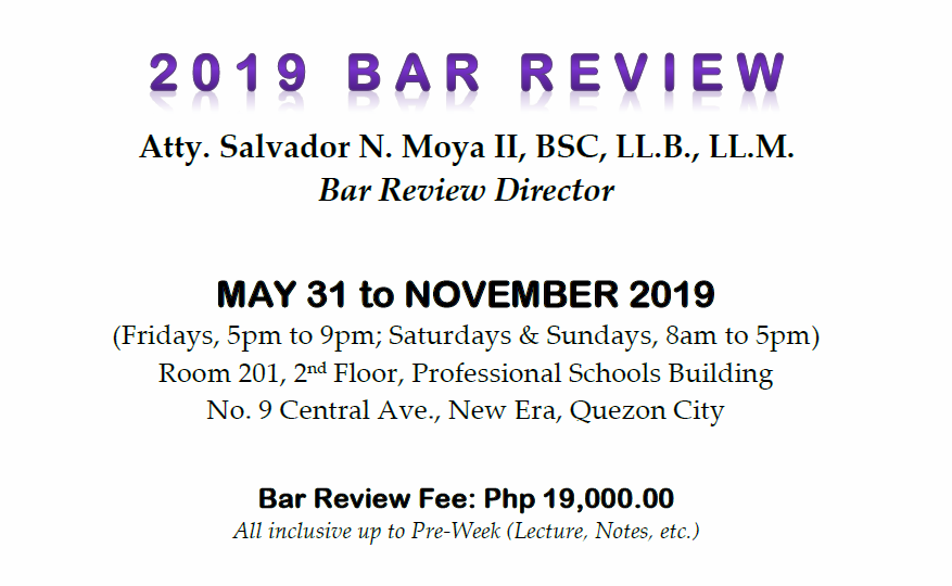 BAR REVIEW CENTER